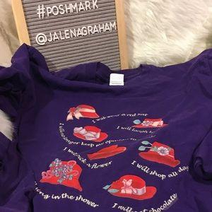 Red hat ladies purple long sleeve tee shirt L